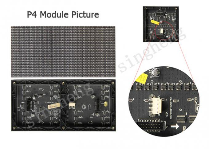 Indoor P4 HD Led Screen SMD2121 LED Component AC110 / 220V Input Voltage