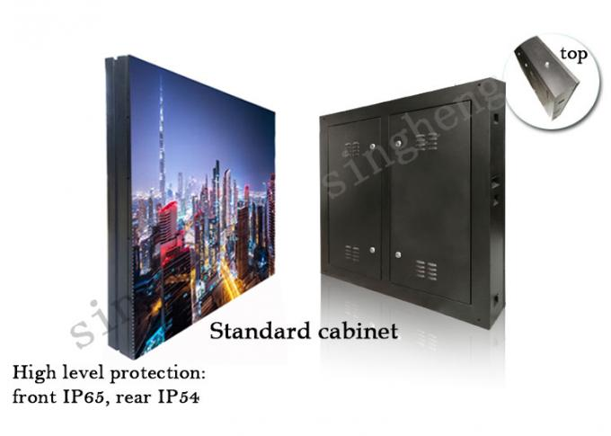 P10 Outdoor Full Color Led Screen , Led Display Panel Super Wide Viewing Angle