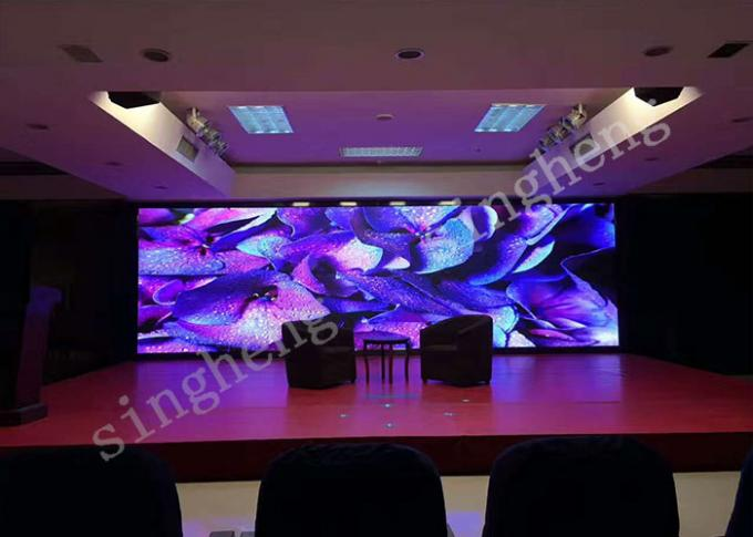 Super Vivid Video Wall Small Pixel Pitch P1.875  LED Display  Light Weight Supports Multimedia Playback