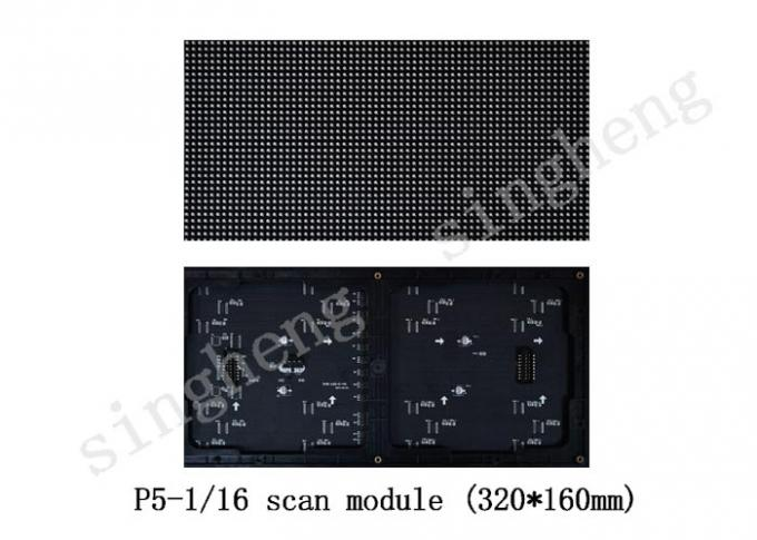 Outdoor Advertising Led Display Screen , P5 Led Video Wall Panels Quickly Installed