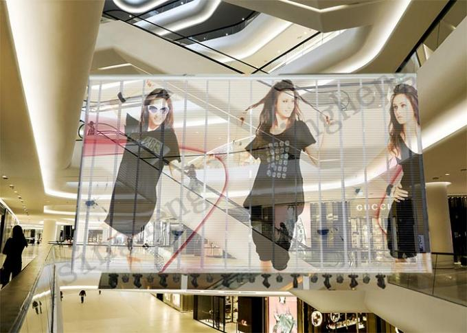 Super Light LED Transparent Screen P3.9 - 7.8 Glass Window Led Display