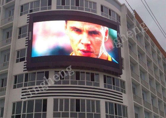Customized Size Large LED Advertising Screens 3 Years Warranty P10 outdoor CE Compliant