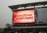 P10 Outdoor Large LED Advertising Screens Iron Materials 100000 Hours Life Span