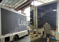 China Commercial Led Truck Display , Trailer Mounted Led Signs 1 / 8 Drive Mode factory