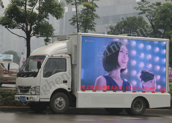 Full Color Outdoor Mobile Truck Led Display 6500 Cd/Sqm High Brightness