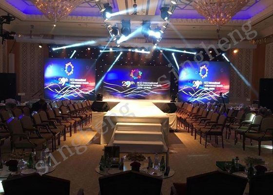 32W Power Rental LED Display 43264 Dots Pixels Density With Brightness Adjustment
