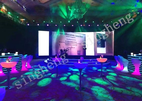 Portable Rental LED Display 1R1G1B Pixel Configuration P4 14.27mm Module Thickness