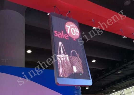 Aluminum Material Transparent Led Wall , Led Advertising Board 120° Viewing Angle