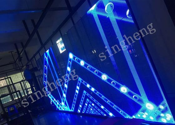 China Accurate P10.4 LED Transparent Screen AC105 - 235V Input Voltage High Durability factory