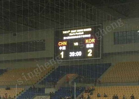 Large P10 Led Football Scoreboard , Led Digital Display Board 960*960mm Cabinet Size