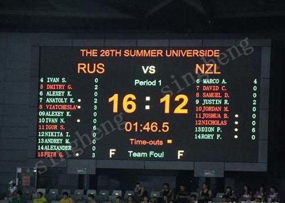 P6 Sports LED Scoreboard Display Viewing Distance >6m With Timing Functions