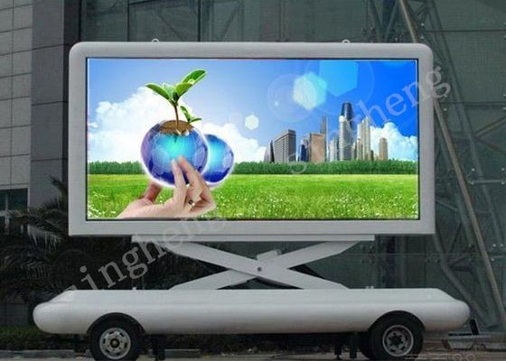 Video P6 Mobile Trailer LED Display 32*32 Dots Module Resolution Dustproof