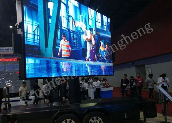 Waterproof P6 Mobile Trailer LED Display Refresh Rate >1920Hz Easy To Install