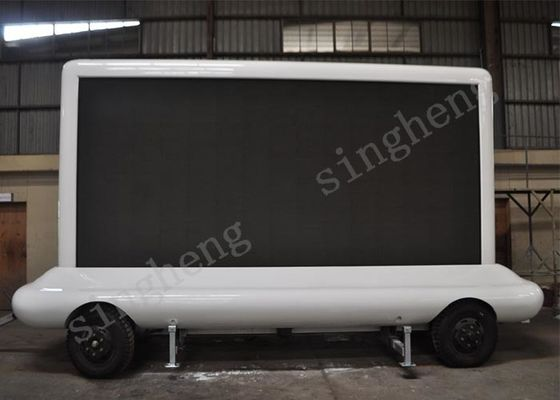 65536 Grey Scale Trailer Mounted Led Screen , P5 Led Truck Signs Good Stability