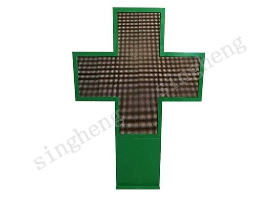 10mm Pixel Pitch Led Pharmacy Cross Sign , Scrolling Led Sign AC110 / 220V