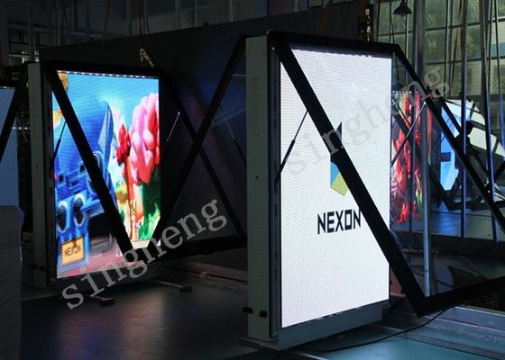 Waterproof Led Poster Screen Store Poster Display P4 TV 256*128 mm Module Size