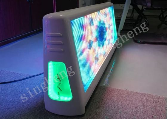 5mm Pixels Taxi Top LED Display Aluminum Cabinet Material Advertising Light Box