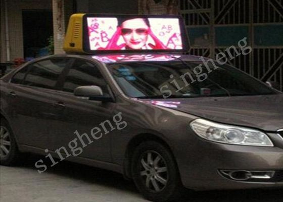 Outdoor Car Roof Digital Advertising Screens SMD2727 Package Mode For Video